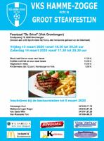 Groot steakfestijn VKS Hamme-Zogge | vrijdag 13 & zaterdag 14 maart 2020