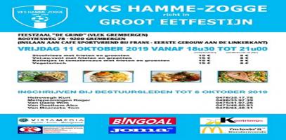 Eetfestijn VKS Hamme-Zogge : vrijdag 11 oktober 2019